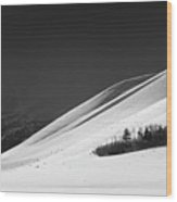 Blacktail Butte Below Winter Weather Wood Print