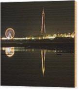 Blacpool Illuminations Wood Print