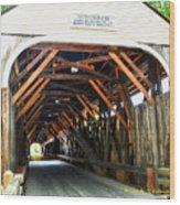 Blair Bridge, Campton Nh Wood Print
