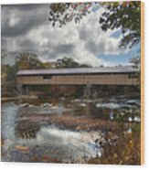 Blair Covered Bridge Wood Print