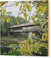 Blair Covered Bridge Wood Print