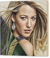 Blake Lively Collection Wood Print