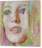Blake Lively Watercolor Wood Print