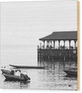 Blake Pier In Stanley, Hong Kong Wood Print