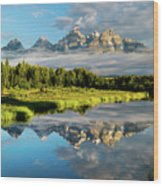 Blame It On The Tetons Wood Print