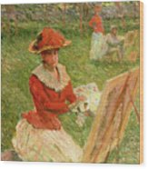 Blanche Hoschede Painting Wood Print