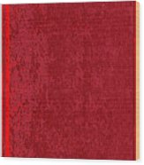 Blank Red Book Cover Wood Print