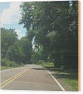 Blank Road Wood Print