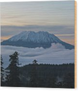 Blanket Of Fog Below Mount Saint Helens Wood Print