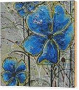 Blau Wood Print