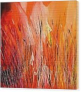 Blaze Wood Print