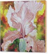 Blazing Iris Wood Print