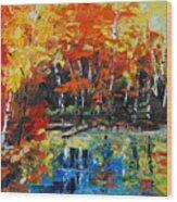 Blazing Reflections Wood Print