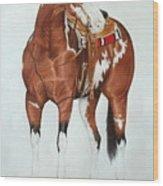 Blazing Saddles Wood Print