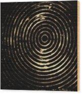 Bleached Circles Wood Print