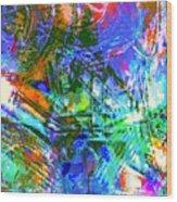 Bleached Vibrance Wood Print