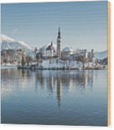 Bled Island Winter Dreams Wood Print