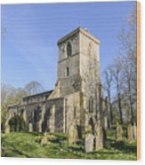 Bledlow Church Wood Print