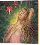 Bleeding Heart - Heal The Heart Wood Print