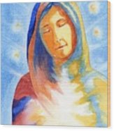 Blessed Mother Wood Print