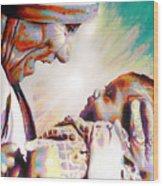 Blessed Mother Teresa Wood Print