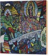 Blessing Of El Pescadero Mural Wood Print