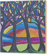 Blessing Trees 3 Wood Print