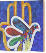 Blessings Of Peace Wood Print by Mordecai Colodner