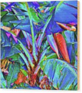 Bleu Banana Wood Print