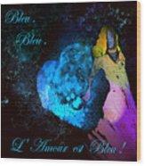 Bleu Bleu L Amour Est Bleu Wood Print
