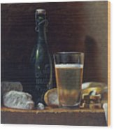 Bleu Cheese And Beer Wood Print