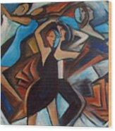 Bleu Danse Wood Print