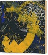 Bleu Et Jaune 1 Wood Print