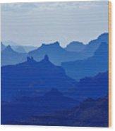 Bleu Grand Canyon Wood Print