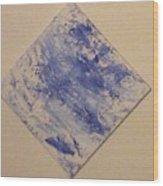 Bleu Wood Print