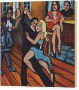 Bleu Tango Wood Print