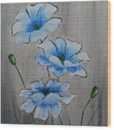 Bleuming Wood Print