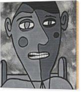 Blind Date Guy Wood Print