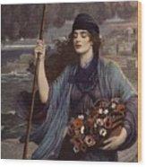 Blind Girl Of Pompeii Wood Print