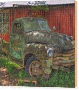 Blind In One Eye 1947 Chevy Flatbed Truck Art Wood Print