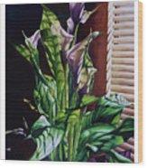 Blind Luck Lilies Wood Print