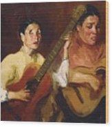 Blind Singers 1912 Wood Print