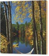 Bliss - New England Fall Landscape Hammock Wood Print