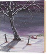Blizzard Beauty Wood Print