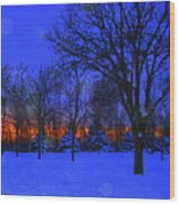 Blizzard Blues 2 Wood Print