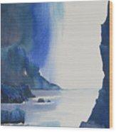 Blizzard Of Blue Wood Print