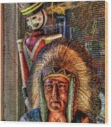 Block Heads Wood Print by Joetta West