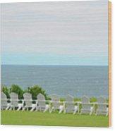 Block Island Hotel Ocean View Wood Print