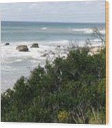 Block Island Sea Shore Wood Print