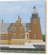 Block Island South East Rhode Island In Full Color Wood Print